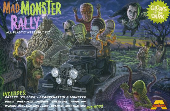 Mad Monster Rally Fantasy Model Kit Art